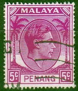 Malay State of Penang 1949 SG 7 King George VI Head Fine Used