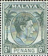 Malay State of Penang 1949 SG  8 King George VI Head Fine Mint