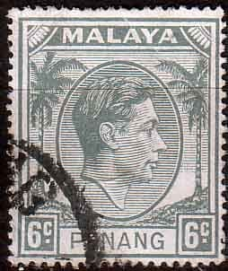 Malay State of Penang 1949 SG  8 King George VI Head Fine Used