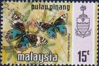 Malay State of Penang 1977 Butterflies SG 84 Fine Used