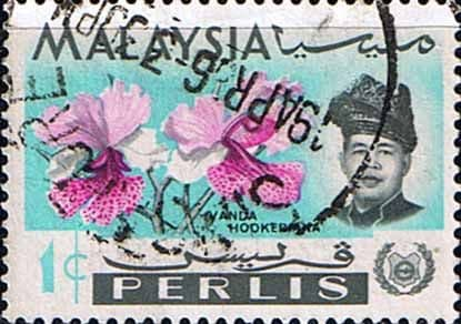 Malay State of Perlis 1965 Flowers Orchids SG41 Fine Used