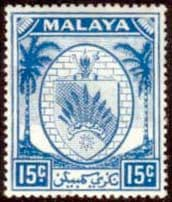 Stamps Malaya Negri Sembilan 1949 Coat of Arms SG 52 Scott 48 Fine Used
