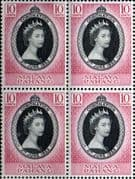 Malaya Pahang Queen Elizabeth II 1953 Coronation Fine Mint Block of 4