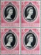 Malaya Penang Queen Elizabeth II 1953 Coronation Fine Mint Block of 4