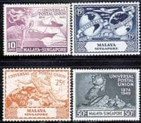 Malaya Singapore 1949 Universal Postal Union Set Fine Mint