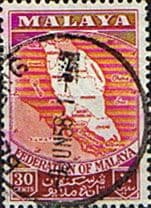 Malayan Federation 1957 SG 4 Map of the Federation Fine Used