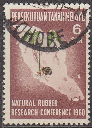 Malayan Federation 1960 Natural Rubber Research SG 17 Fine Used