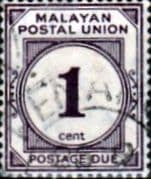 Malayan Postal Union 1936 SG D1 Post Due Fine Used