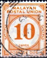 Malayan Postal Union 1936 SG D4 Post Due Fine Used