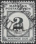 Malayan Postal Union 1951 SG D15 Post Due Fine Used