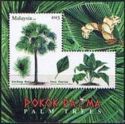 Malaysia 2009 Palm Trees Miniature Sheet Fine Mint
