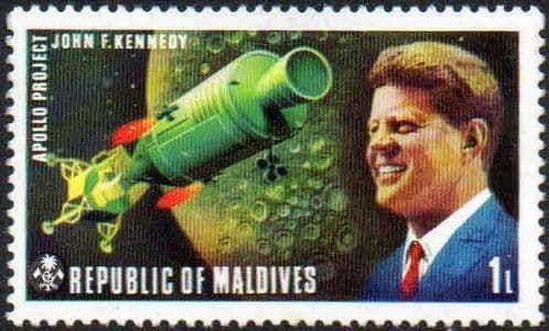 Maldive Islands 1974 American and Russian Space Exploration Projects SG 483 Fine Mint