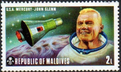 Maldive Islands 1974 American and Russian Space Exploration Projects SG 484 Fine Mint