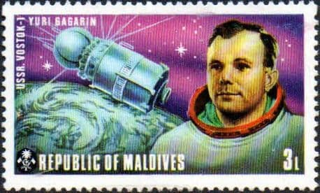 Maldive Islands 1974 American and Russian Space Exploration Projects SG 485 Fine Mint