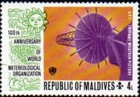 Maldive Islands 1974 World Meteorological Organization SG 478 Fine Mint