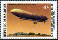 Maldive Islands 1977 First Navigable Airships SG 715 Fine Mint