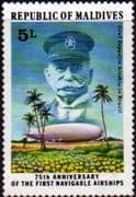 Maldive Islands 1977 First Navigable Airships SG 716 Fine Mint