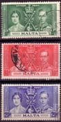 Malta 1937 King George VI Coronation Set Fine Used