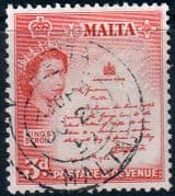 Malta 1956 SG 272 King Scroll Fine Used