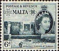 Malta 1956 SG 274 Neolithic Temples At Trxien Fine Mint