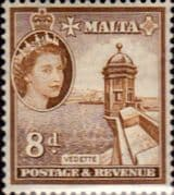 Malta 1956 SG 275 Vedette Tower Fine Mint