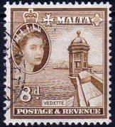 Malta 1956 SG 275 Vedette Tower Fine Used