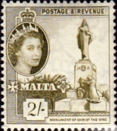 Stamp Stamps Malta 1956 SG 278 Christ The King Statue Fine Mint Scott 258
