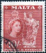 Malta 1956 SG 281 St Paul Fine Used