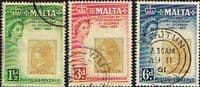 Malta 1960 Stamp Centenary Set Fine Used
