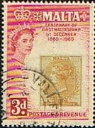 Malta 1960 Stamp Centenary SG 302 Fine Used