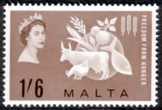 Postage Stamps of Malta Freedom From Hunger