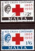 Malta 1963 Red Cross Centenary Set Fine Used