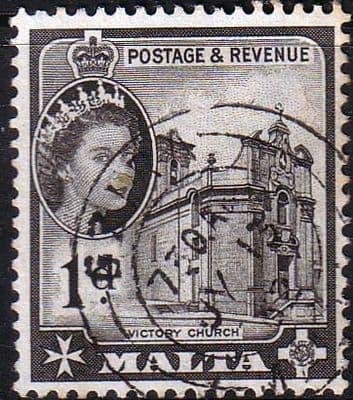 Queen Elizabeth Stamps Malta 1956 SG 268 Victory Church Fine Mint Scott 248