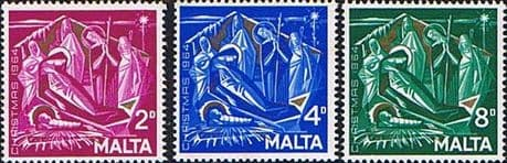 Postage Stamps Malta Stamps 1964 Christmas Set Fine Mint