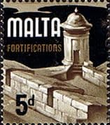 Malta 1965 SG 337b Fortifications Fine Mint