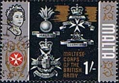 Postage Stamps Malta 1965 SG 340 Maltese Corps of the British Army Fine Used SG 340 Scott 322