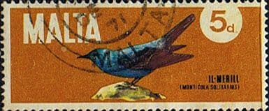 Malta 1971 Plans and Birds SG 457 Fine Used