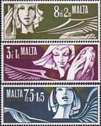 Malta 1972 Christmas Set Fine Mint