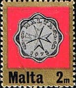Malta 1972 Decimal Currency Coins SG 467 Fine Used