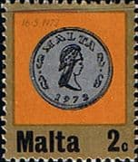 Malta 1972 Decimal Currency Coins SG 471 Fine Mint