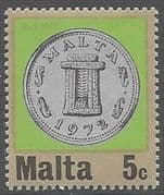 Malta 1972 Decimal Currency Coins SG 472 Fine Mint