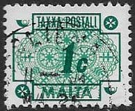 Malta 1973 Post Due SG D45 Fine Used