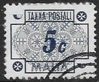 Malta 1973 Post Due SG D48 Fine Used