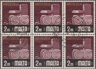 Malta 1973 SG 486 Archaeology Fine Used Block of 6