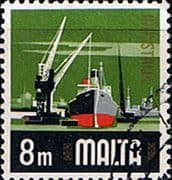 Malta 1973 SG 489 Industry Fine Used