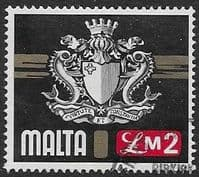 Malta 1973 SG 500 Coat of Arms Fine Used