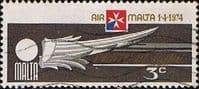 Malta 1974 Air Malta SG 516 Fine Used
