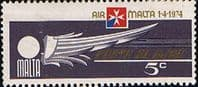 Malta 1974 Air Malta SG 518 Fine Mint