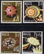 Malta 1974 Christmas Set Fine Mint