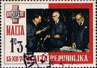 Malta 1975 Inauguration of Republic SG 536 Fine Used
